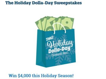 Zing by Quicken Loans Holiday Dolla-Day Sweepstakes