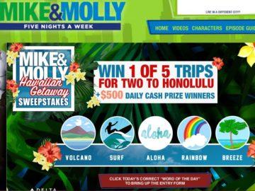 Mike & Molly Hawaiian Getaway Sweepstakes