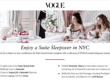 Vogue Suite Sleepover in NYC Sweepstakes