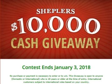 2018 cash giveaways and sweepstakes