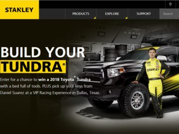 STANLEY FATMAX Build Your Tundra Sweepstakes