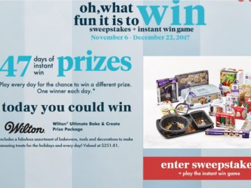 Bed Bath & Beyond Oh, What Fun It is to Win! Sweepstakes & Instant Win Game