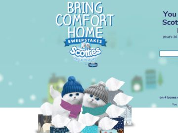 "Scotties ""Bring Comfort Home"" Sweepstakes"