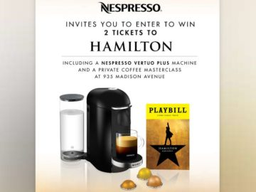Playbill Nespresso Sweepstakes