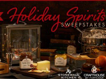 Stonewall Kitchen Holiday Spirits Sweepstakes