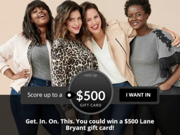 Lane Bryant, Inc. $500 Gift Card Giveaway Sweepstakes