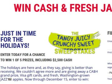 JAZZ Presents: Tangy, Juicy, Crunchy, Sweet Sweepstakes