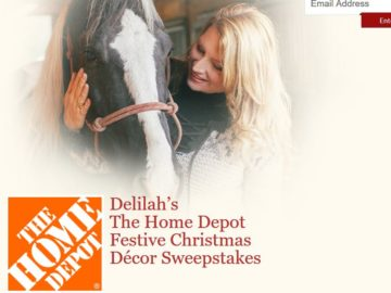 Delilah's The Home Depot Festive Christmas Décor Sweepstakes