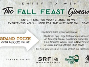 Snake River Farms Fall Feast Giveaway Sweepstakes