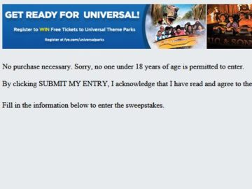 F.Y.E.'s Universal Parks Sweepstakes