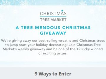 Christmas Tree Market's A Tree-mendous Christmas Giveaway Sweepstakes – Facebook