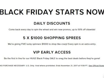 Lulus Black Friday Sweepstakes