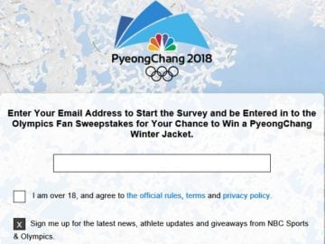 NBC Olympics Fan Sweepstakes