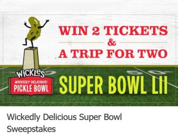 Wickles Pickles Sweepstakes