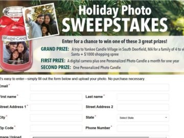 Yankee Candle Holiday Sweepstakes