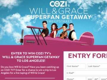 COZI TV's Will & Grace Superfan Getaway Sweepstakes – Facebook