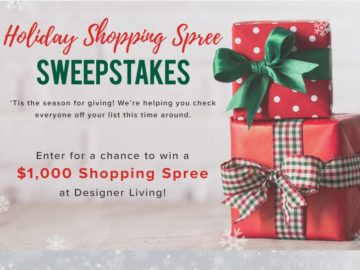 "Designer Living ""Holiday Shopping Spree"" Sweepstakes -Facebook"