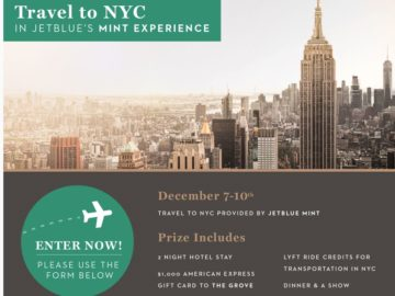 JetBlue Holiday Getaway Giveaway Sweepstakes