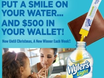 Wyler's Light Holiday Shopping Sweepstakes – Facebook