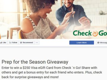 Check `n Go Prep for the Season Facebook Sweepstakes – Facebook