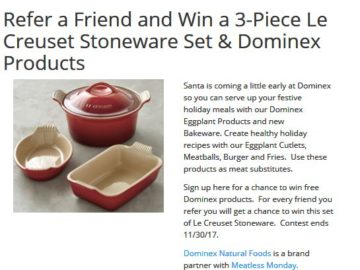 Dominex Eggplant Le Creuset Sweepstakes – Facebook