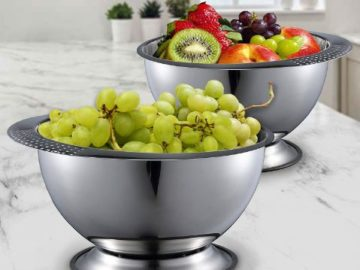 Win a Stainless Steel Kitchen Bowl Large 3.5 Quart Capacity