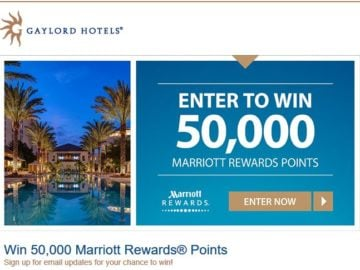 "Gaylord Hotels ""50,000 Points"" Sweepstakes"