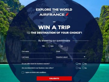 Explore the World with Air France Sweepstakes