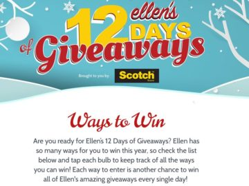 Ellen's 12 Days of Giveaways 2017!