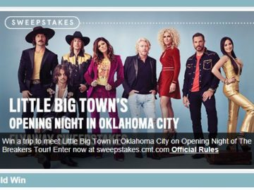 Little Big Town's Opening Night in Oklahoma City Fly Away Sweepstakes