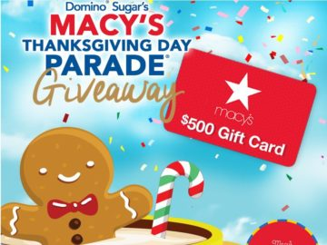 Domino Sugar's 2017 Macy's Thanksgiving Day Parade Giftcard Giveaway Sweepstakes