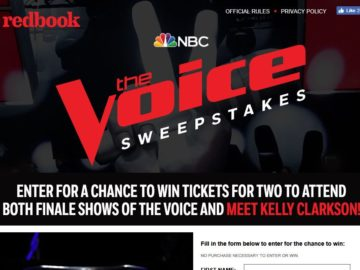 "Redbook's ""The Voice"" Season 14 Finale Sweepstakes"