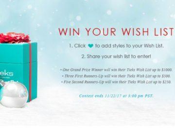 Tieks Win your Wish List Contest
