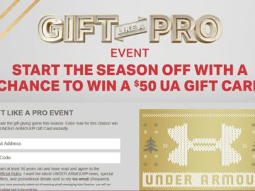 Under Armour Gift Like a Pro Event Instant Win Game