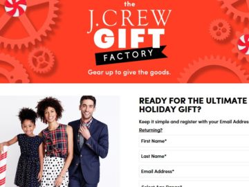 J. Crew Great Gift Card Giveaway Sweepstakes