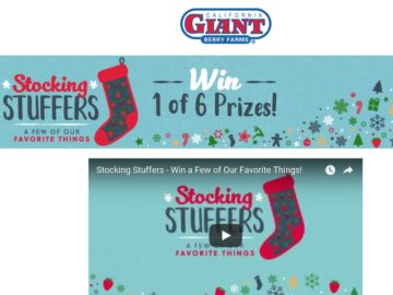 California Giant Berry Farm Stocking Stuffers: A Few of Our Favorite Things Sweepstakes