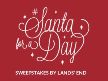 Lands' End Santa for a Day Sweepstakes and Instant Win Game