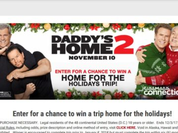 Cinemark Daddy's Home for the Holidays 2 Sweepstakes