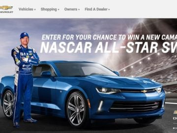 Chevrolet Race To Win Camaro Sweepstakes