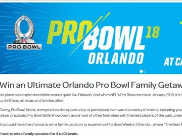 Visit Orlando Unforgettable Orlando Family Pro Bowl Experience Sweepstakes