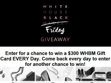 WHBM's White House Black Friday Giveaway Sweepstakes