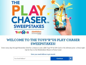 """Toys """"R"""" Us Play Chaser Sweepstakes"""