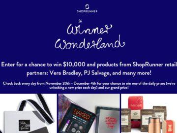 ShopRunner Winner Wonderland Sweepstakes