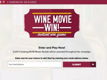 Cameron Hughes Wine Movie Win Sweepstakes – Limited States