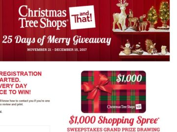 Christmas Tree Shops andThat! 25 Days of Merry Giveaway Sweepstakes and Instant Win Game