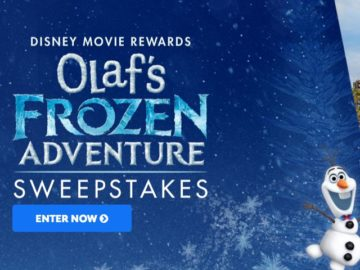 Disney Movie Rewards Olaf's Frozen Adventure Sweepstakes
