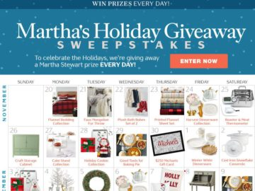 Martha Stewart's Holiday Giveaway Sweepstakes