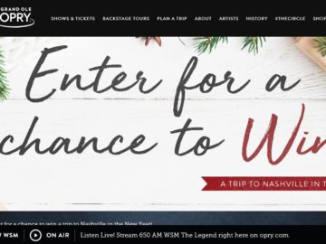 Opry Holiday Sweepstakes