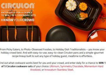Circulon Know Your Crowd Sweepstakes