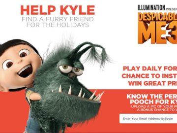 "Despicable Me 3 ""Find Kyle a Friend Game"" Sweepstakes"